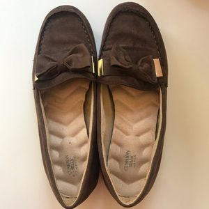 Cushion Walk By Avon Brown Loafers Flats